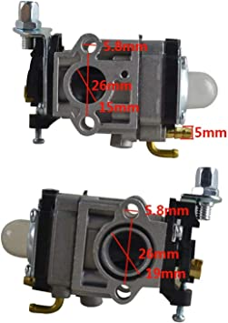 Monland Kit Linea Carburante Carburatore 15Mm per 43Cc 52Cc 40-5 BC430 CG430 CG520 1E40F-5 44F-5 Decespugliatore Motore