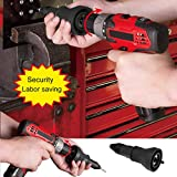 Electric Rivet Gun Drill Adapter Insert Nut Wrench Riveting Tool Kit for Cordless Drill