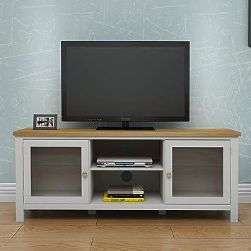 Keinode Tv Cabinet Modern Solid Oak Corner Tv Stand 2 Amazon Co Uk