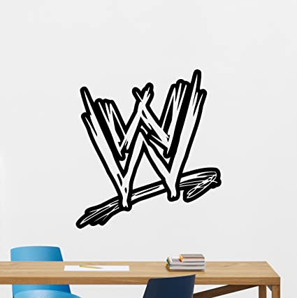 WWE Logo Wall Decal Wrestling Vinyl Sticker Sport Wall Art Design  Housewares Living Room Bedroom Decor