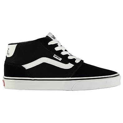 427ed88aa81235 Vans Chapman Mid Tops Skate Shoes Mens Black White Casual Trainers Sneakers  (UK7.5) (EU41) (US8)  Amazon.co.uk  Shoes   Bags