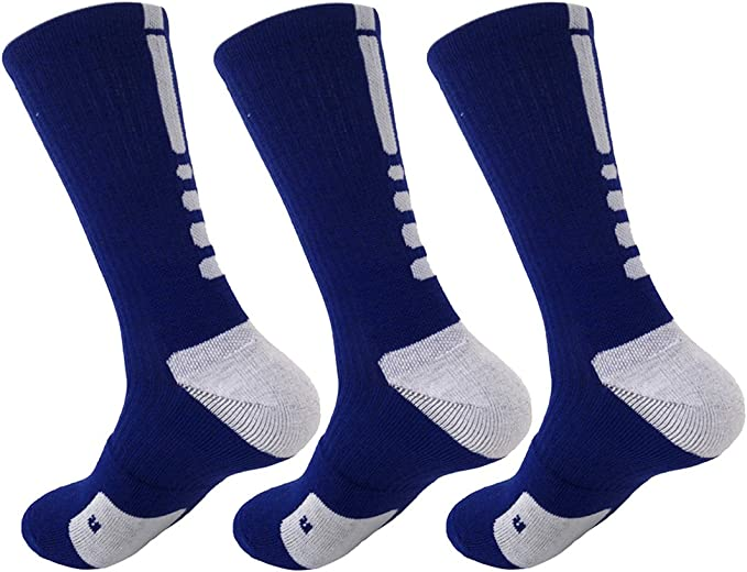 Hxst Dri-fit Cushion Basketball Crew Socks - 3 Pair Pack