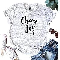 DUTUT Choose Joy Thanksgiving T Shirt Womens Cute Christian Graphic Tee Funny Humble Shrot Sleeve Shirt Tops