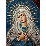 Mother Mary 5d Diy Diamond Painting Rhinestones Pattern Mosaics Icons DMC Cross Stitch Sets For Embroidery Kits Needlework NoBeadwork Crafts