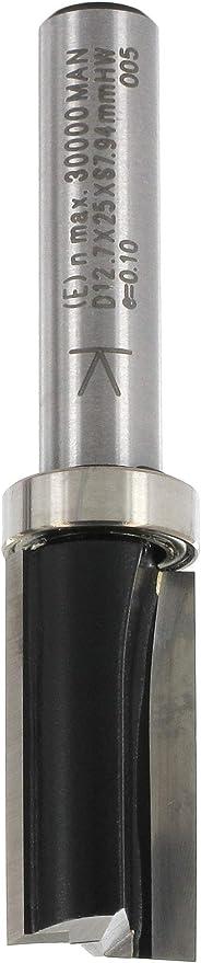 ENT Fraise pour affleurer droite Carbure Queue B 12,7 mm GL 55 mm Diam/ètre 8 mm A avec roulement C D 32 mm 12,7 mm