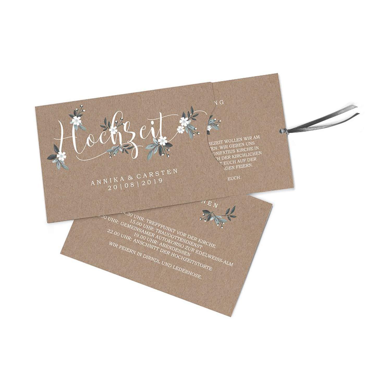 Hochwertige Einladungskarten zur Hochzeit im edlen Kraftpapier Look     Designs auswählbar   Hochzeitseinladungen mit Druck Ihrer eigenen Texte   100 Stück   Rustic Vintage   Moderne Hochzeitskarten B07NYYNM9T Postkarten Ab dem neuesten Modell 08b4f1