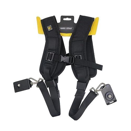 Double Dual Camera Straps, Galopar Camera Belt Double Dual Shoulder Strap Belt Holster for DSLR Camera Canon Nikon Sony