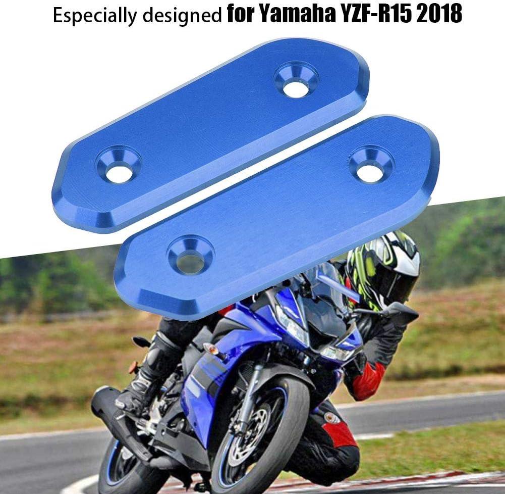 Schwarz Motorrad R/ückspiegel Basis Dekorative Abdeckung Spiegel Block Off Panels Guard Dekoration f/ür YZF-R15 2018 Schwarz Rot Titan Farbe Blau