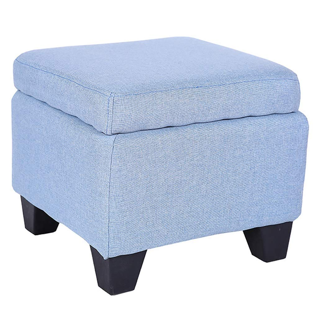 D Storage Stool Storage Stool Soft Bag Sofa Multi-Function Household Cloth (color   E)