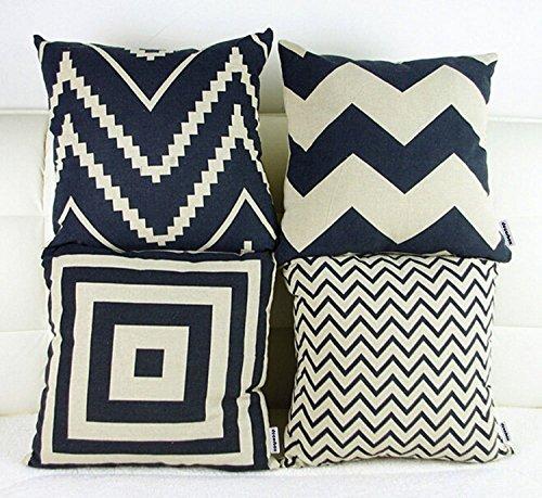 "Decorbox 18 ""X 18 "" Cotton Linen Square Decorative Throw Pil"