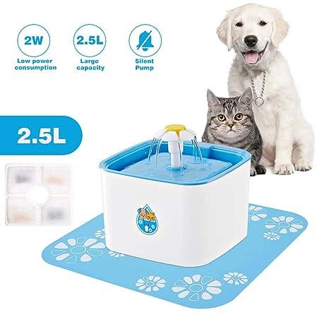 WooBrit 2.5L Dispensador de Fuente de Agua para Mascotas, Soporte automático para dispensador de