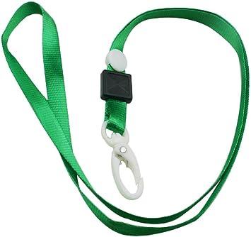 Color Plastic ID Badge Holder Clip GREEN