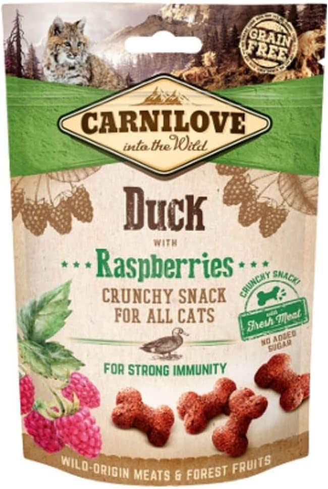 Carnilove Crunchy Snack Duck & Raspberries Premios para Gato 50G - Paquete de 31 x 1.61 gr - Total: 50 gr