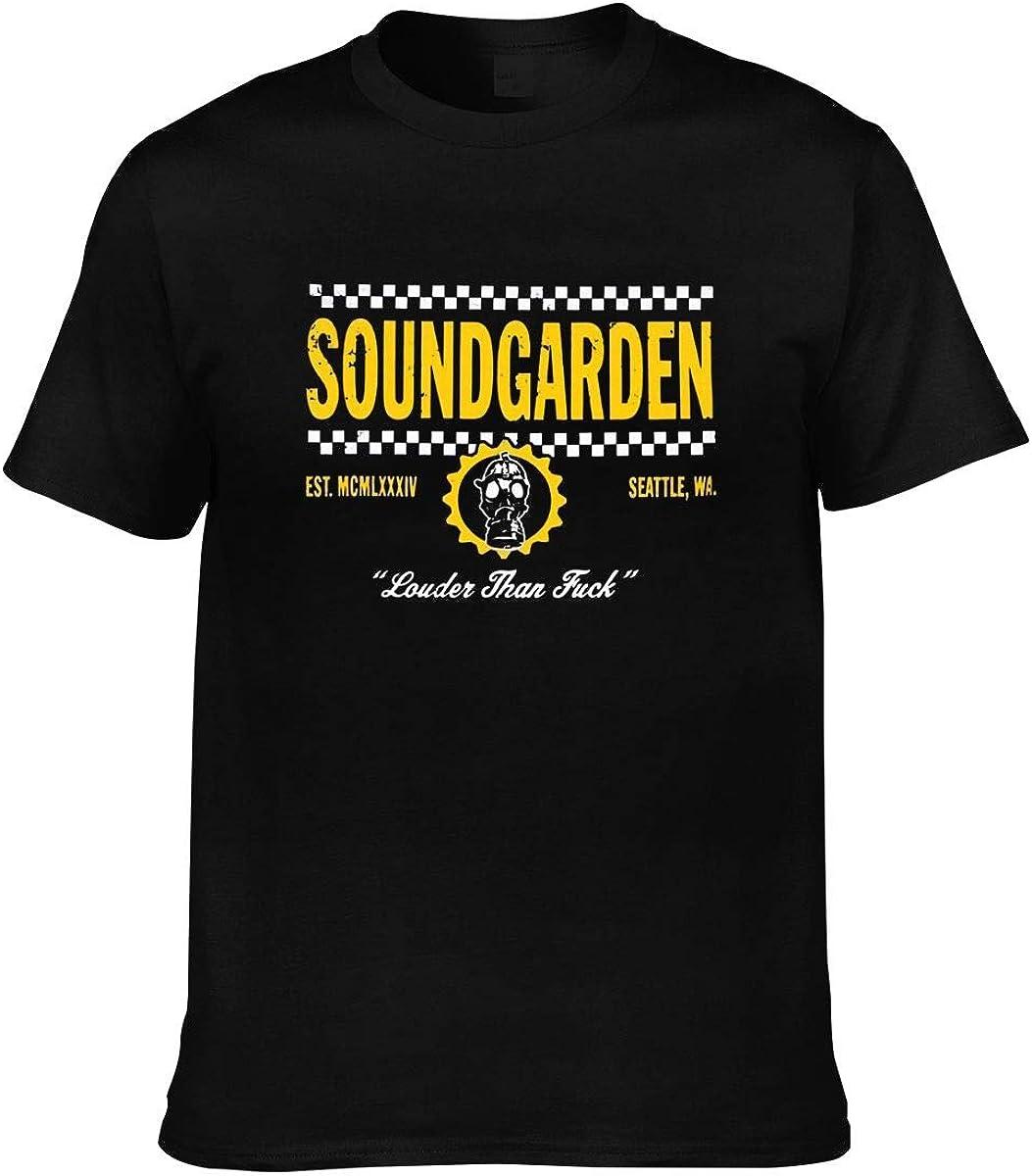 XIAO QIU Men's Sound Garden T-Shirt Active Performance Moisture Wicking Technology.