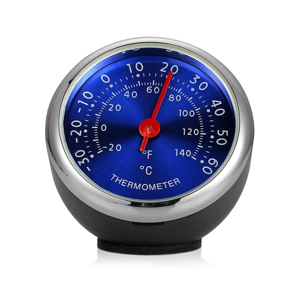 Buyanputra Mini High Precision Blue Dial Auto Car Dashboard Round Digital Thermometer Decor Vehicle Accessory