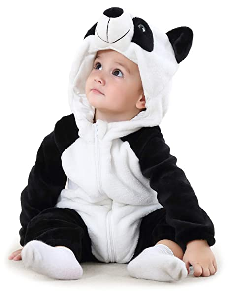 Adorel Pelele Buzo Pijama Manta con Capucha para Bebés Niño Panda 13-18 Meses (