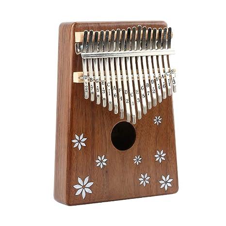 HORHIN 17 Key Thumb PianoSolid Mahogany BodyFinger Piano Mbira Tone