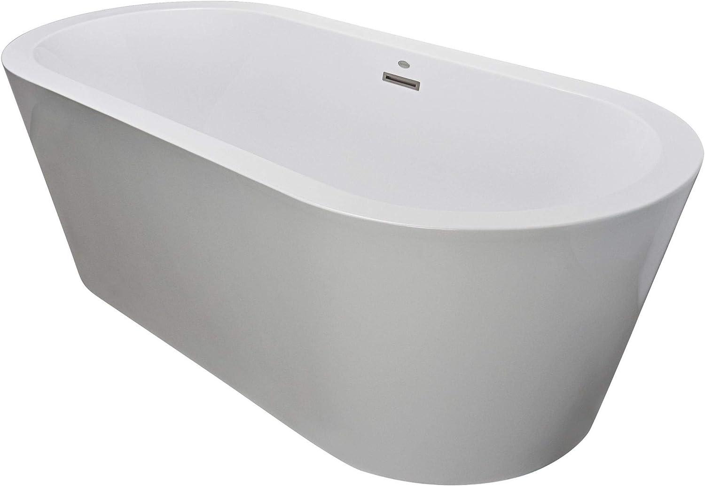 Jacuzzi Cef7032bcxxxxg Jacuzzi Cef7032bcxxxxw Celeste 70 Soaking Freestanding Bathtub With Center Drain Amazon Com