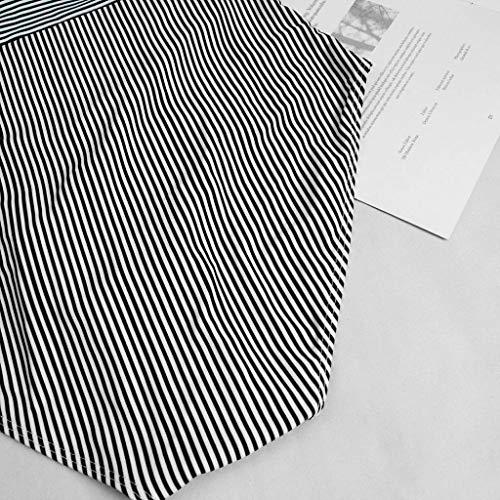 dauerhafte Modellierung FOUNFME Frauen Einteiler Push Up Striped Printed Bikini Set Damen Strandbadebekleidung Rüschen Badeanzug Schwarz agY3C0U7