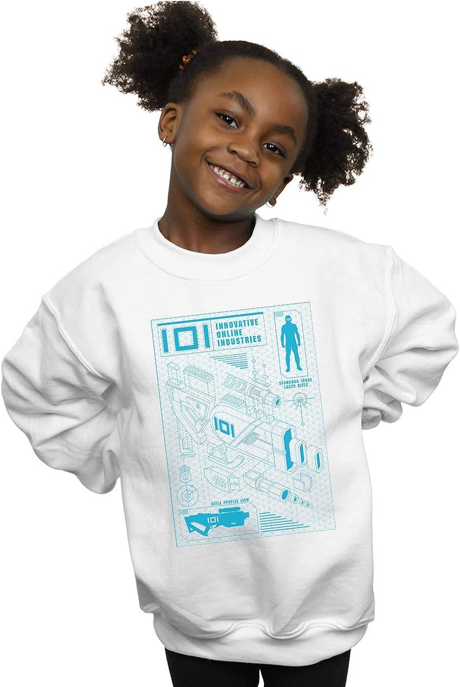 Ready Player One Girls IOI Laser Rifle Blueprint Sweatshirt