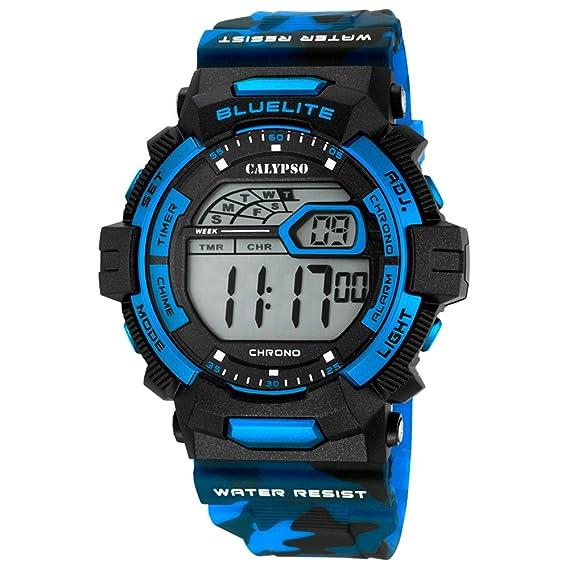 Calypso Señor Reloj de pulsera cuarzo reloj digital de plástico reloj con Poliuretano banda de alarma Cronógrafo todos los modelos k5693, variante: 05: ...