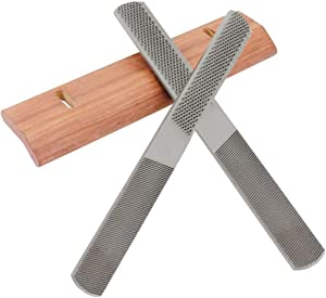 Proudsun Wood Rasp File 4-in-1 Steel Woodworking File Handles Multi-Function Finishing Hand File Wood Shaver(2PCS)