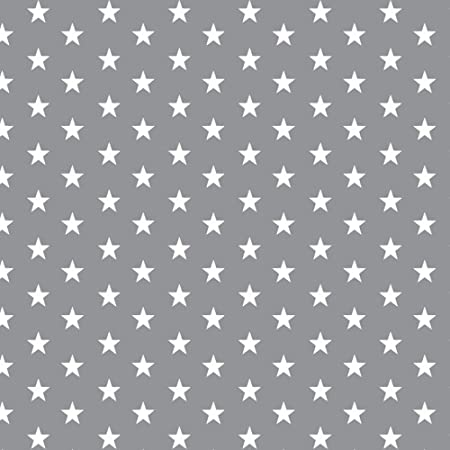 Craft Beautiful Silver Grey 100/% Cotton Fabric Ideal for Clothing Quilting