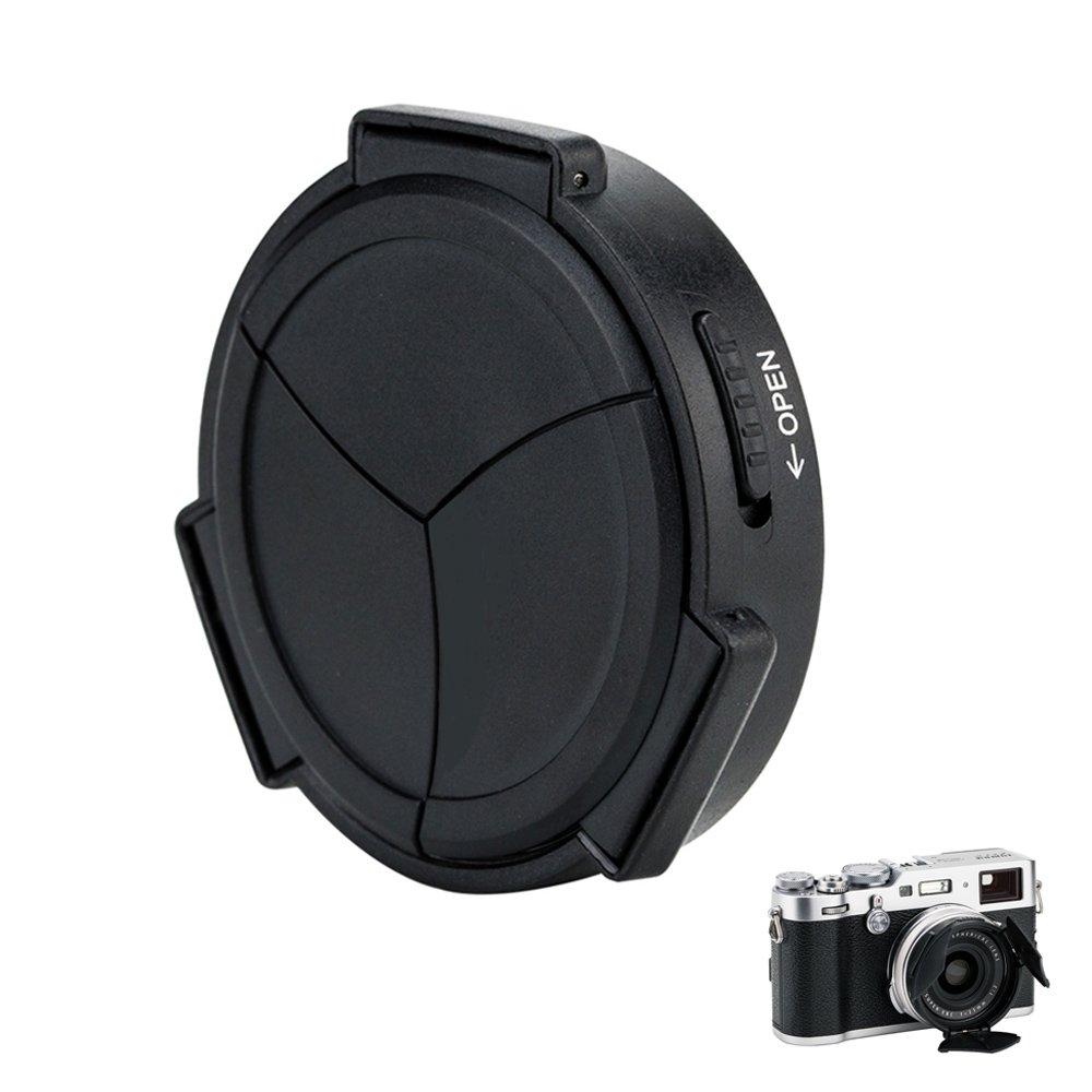 Auto Lens Cap Hood JJC Camera Automatic Lens Cap Cover Shade for Fujifilm Fuji X100F X100T X100S X100 X70 with 3 Auto Leaves -Black by JJC