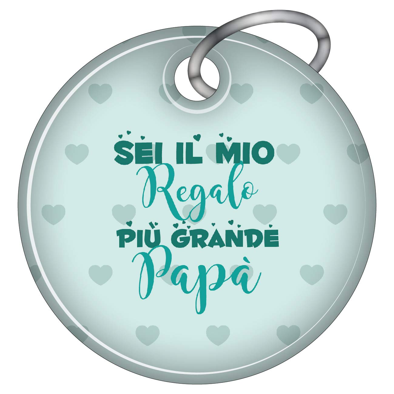 My Custom Style Portachiavi Montana#Festa del pap/à Love1#a Goccia in Ecopelle