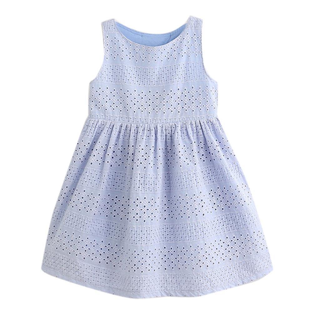FEITONG Kids Baby Girls Summer Cute Bow Princess Dress Children Dresses Kids Clothes Outfits kids girls dress