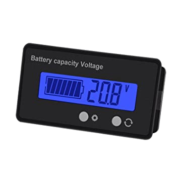 WINOMO 12V-48V Lead-Acid Battery and Lithium Battery Capacity Tester Voltage Meter
