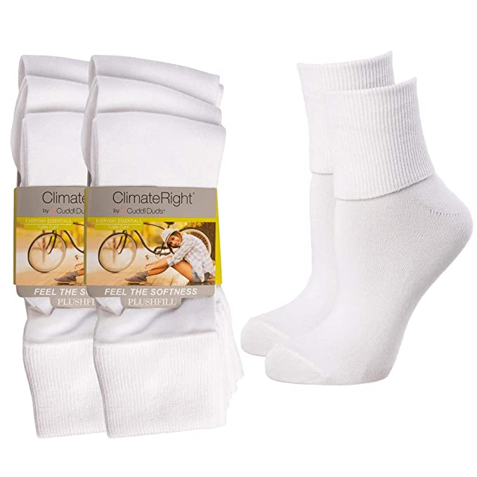 5ac910d92ab Image Unavailable. Image not available for. Color  Cuddl Duds (6 Pairs)  ClimateRight Womens Extended Size Socks ...