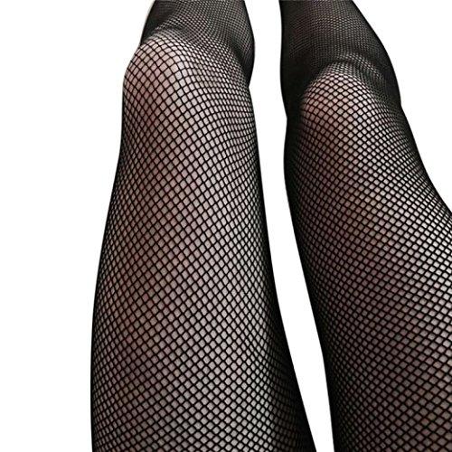 Shybuy Hot Sale Women Sexy Hosiery Black Fishnet Elastic Thigh High Stockings Pantyhose Tights (88cm, B)