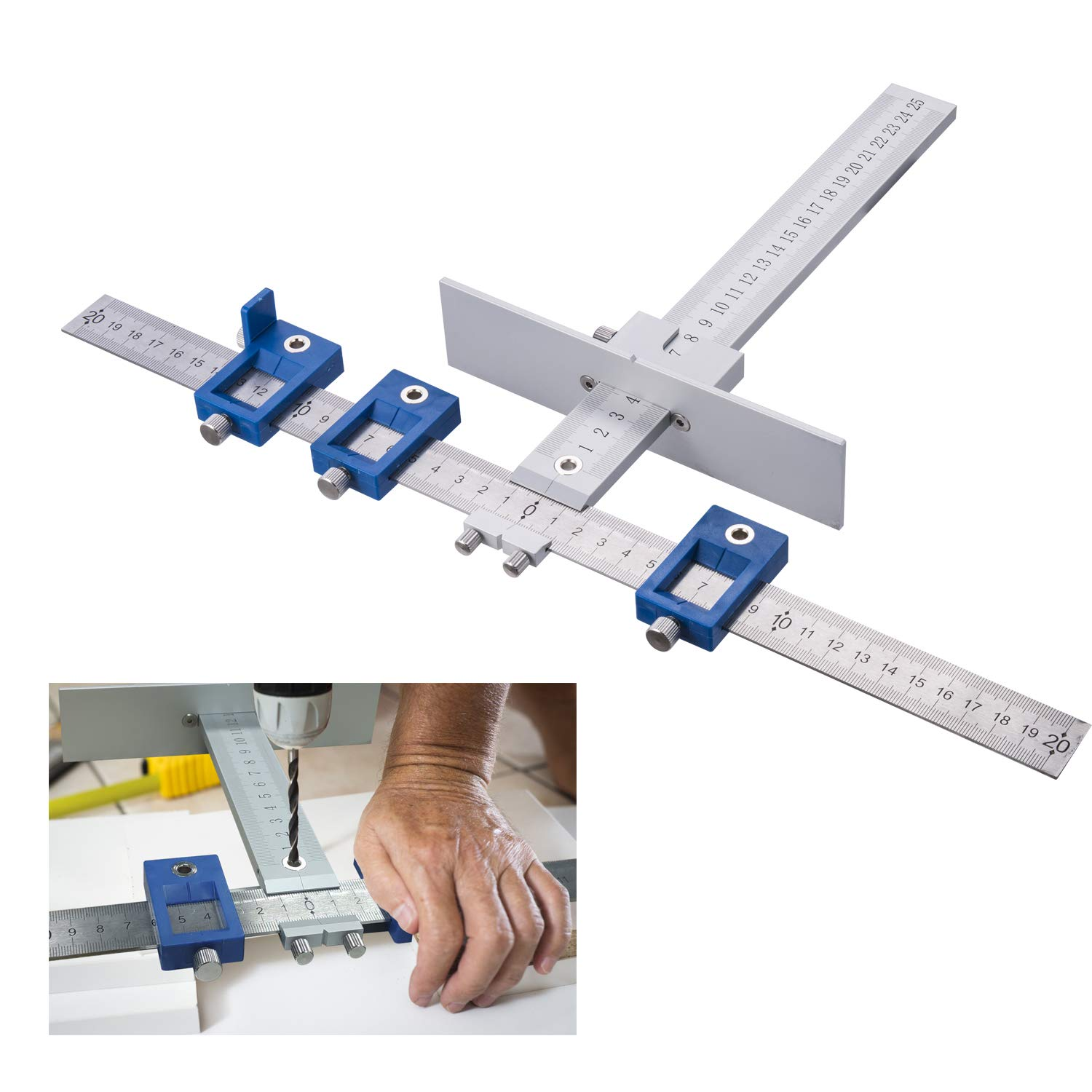 Aluminum Alloy Cabinet Hardware Jig Position tool