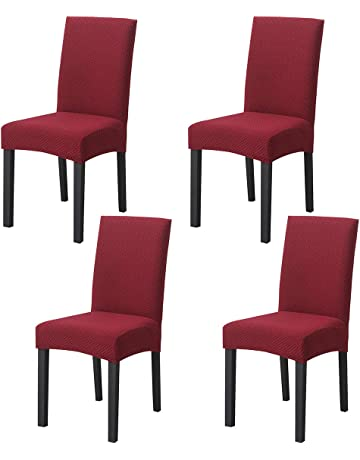 Strench Knitted Dining Chair Covers Set of 4 4 Pack, Camel ...