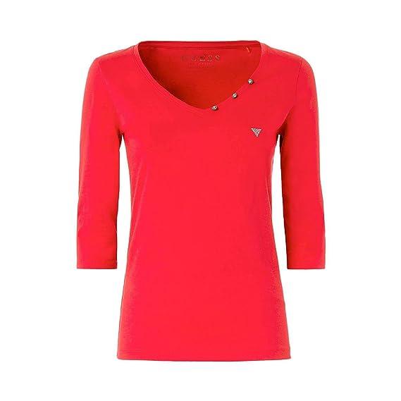 Guess T-Shirt W82P25-I5Y00-G503 Rouge  Amazon.fr  Vêtements et accessoires c552be1edf1