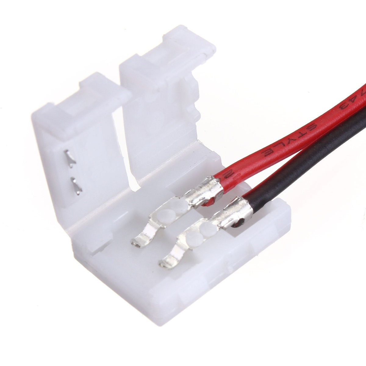 Lights & Lighting - 2-Pins Power Connector Adaptor For 3528/5050 Led Strip Wire Pcb - Solderless Strip Connector Light Flex Tape 3528 Lighting Ever 5000028 B019q3u72m Tail 2-Pins by Unknown (Image #4)