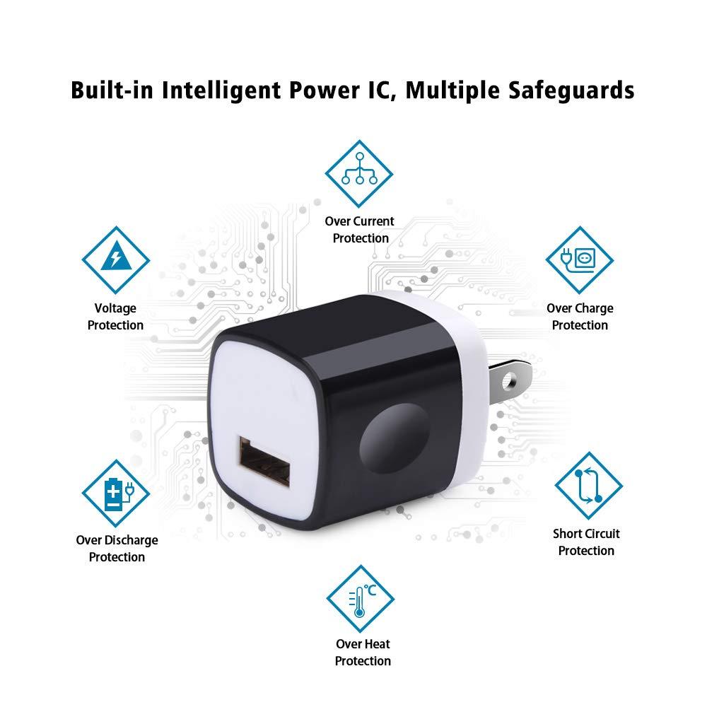 Amazon.com: UorMe - Cargador de pared USB para teléfonos Xs ...