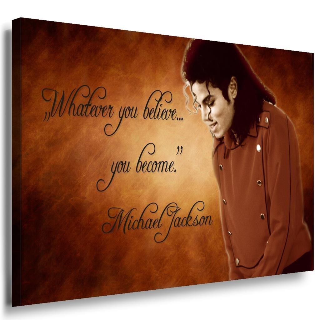 Michael Jackson Leinwandbild   LaraArt Bilder   SchwarzWeiß + Kunstdruck XXL m11 Wandbild 100 x 70 cm