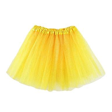 STRIR Niñas de capas de volantes Tulle ballet tutú falda 3-8T ...