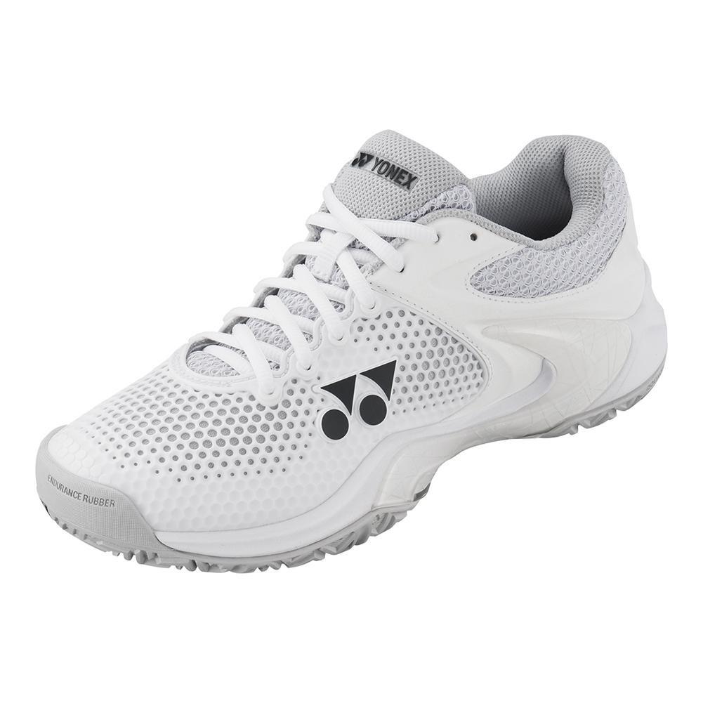 Yonex Power Cushion Eclipsion 2 Womens Tennis Shoe, White/Silver (7)