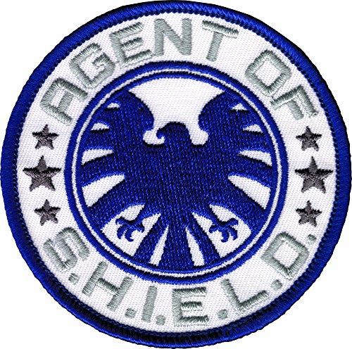 White & Gray Agents of S.H.I.E.L.D. Blue Eagle Patch / Applique ()