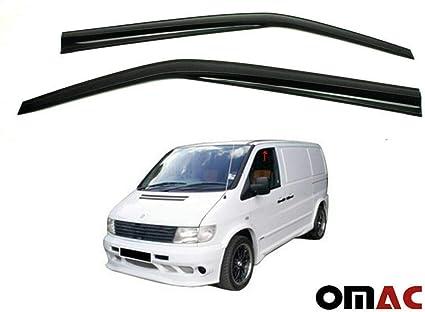 OMAC Deflectores de viento para Vivaro Trafic II 2001 color negro 2014