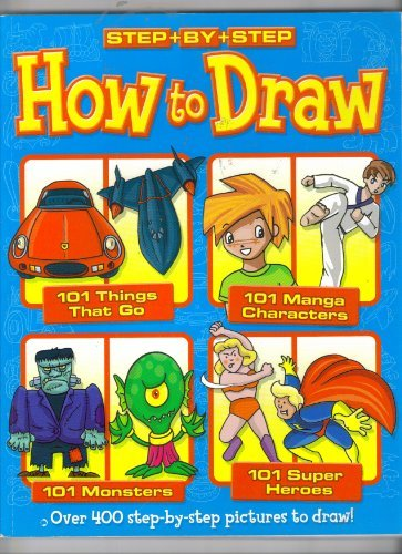 Step By Step How To Draw Blue Cover Things That Go, Manga, Monsters, and Super-Heroes