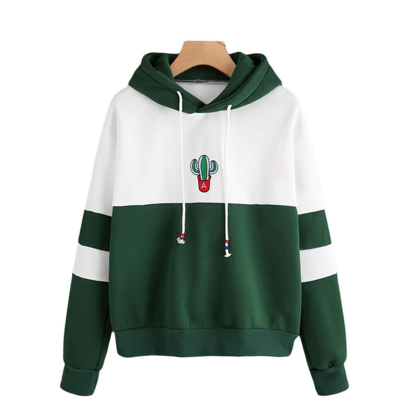 Amazon.com: Yakke Pullovers Sweatshirts Female Hoodie Pink & Gray Plus Size Sweatshirt Hoodies Women Long Sleeves Hoody for Wome: Clothing