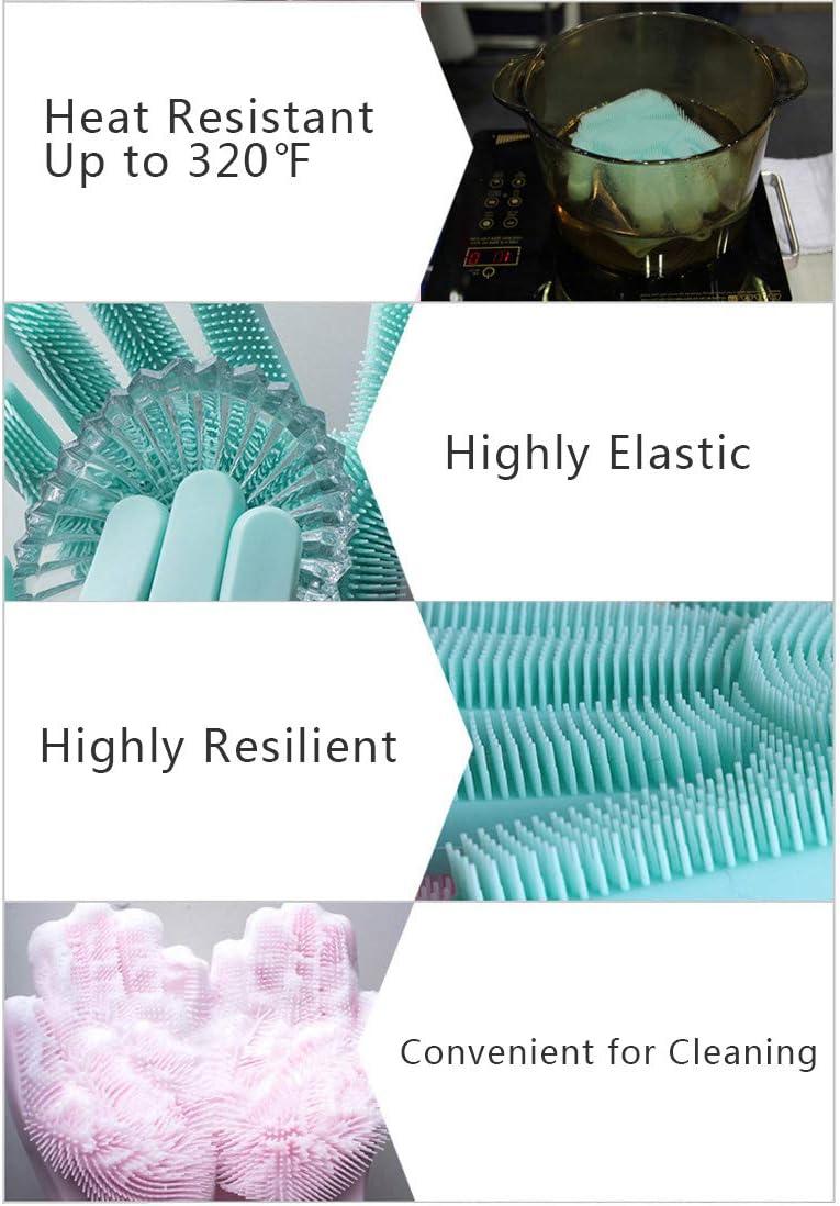 Baanuse Cleaning Gloves Household Kitchen Clean Rubber Waterproof Glove Inlaid Velvet