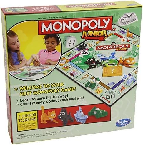 Desconocido Hasbro Gaming - Monopoly Junior, Juego de Mesa (versión en Italiano): Amazon.es: Juguetes y juegos
