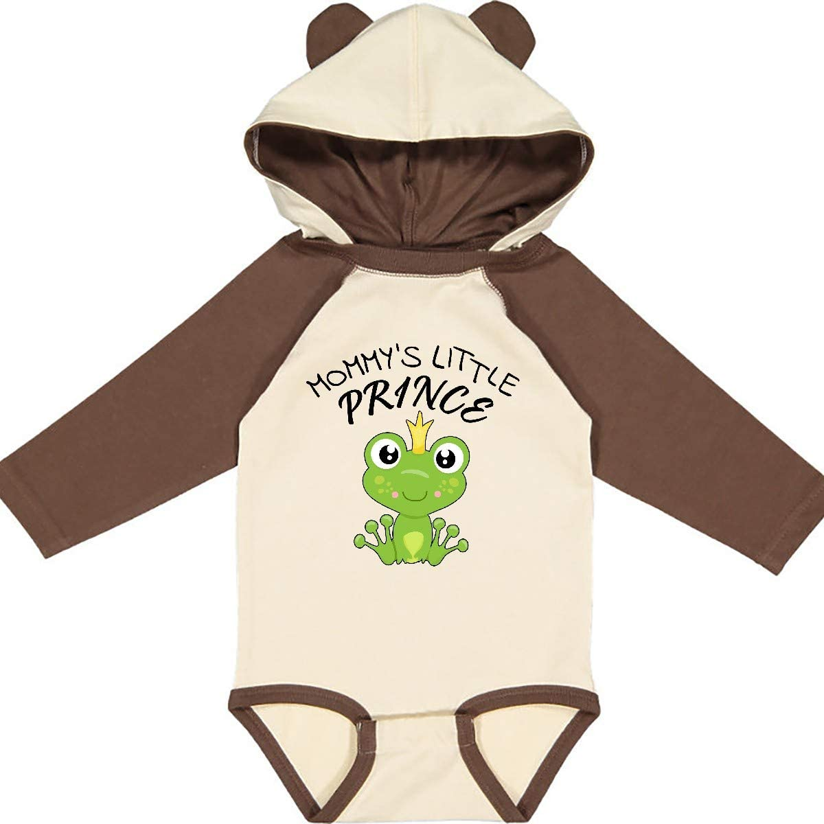 Cute Frog Long Sleeve Creeper inktastic Mommys Little Prince