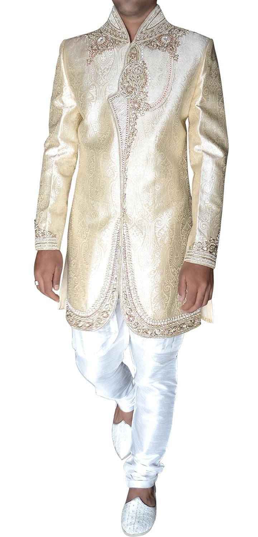 INMONARCH Mens Bollywood Beige Designer Indowestern Ready to Ship IN276Z