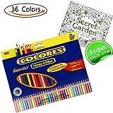 Colored Pencils + Coloring Books , Premium Assorted Oil Based coloring Pencils Set